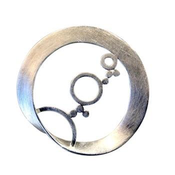 Anhänger, Silber, rund