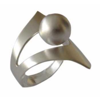 Ring mit Kugel  Kugeldurchmesser ca. 10 mm