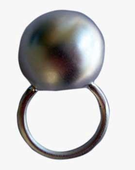 Ring, Kugel ( Durchmesser ca. 18 mm)