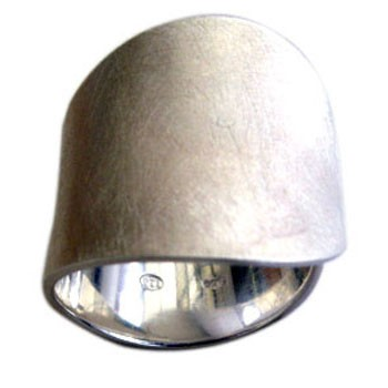 Ring, Silber ca. 20mm breit icematt