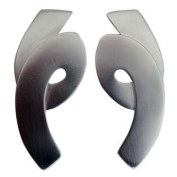 Ohrstecker, Silber ca. 50 x 20 mm
