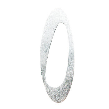 Moderner Anhänger, Silber, icematt