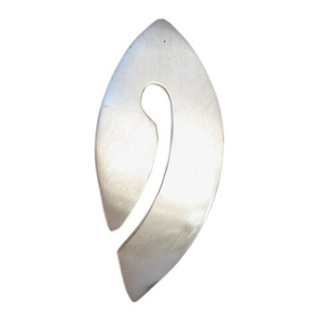 Silberanhänger, feinmatt
