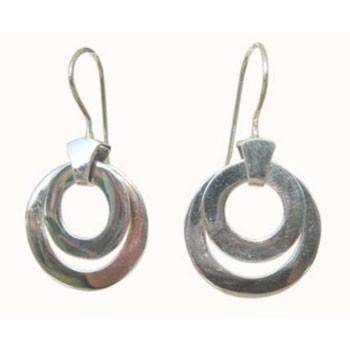 Ohrhänger, 2 bewegliche Scheiben  Durchmesser ca. 25 mm