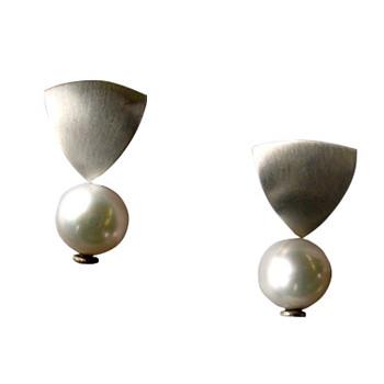 Ohrstecker, Silber mit Zuchtperle