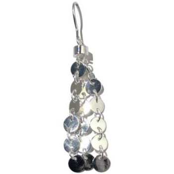 Ohrhänger Silber mit Plättchen