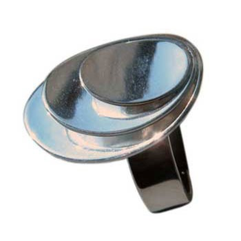 Ring, größenverstellbar  ca. 20 x 15 mm