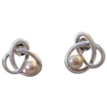 Ohrstecker mit Perle, Silber