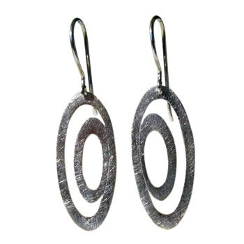 Ohrhänger Silber  35 x 20 mm