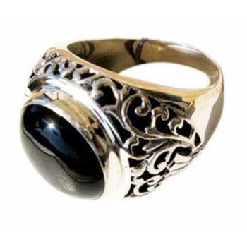 Ring,Silber, Onyx