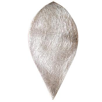 Silberanhänger, Blütenblatt, icematt