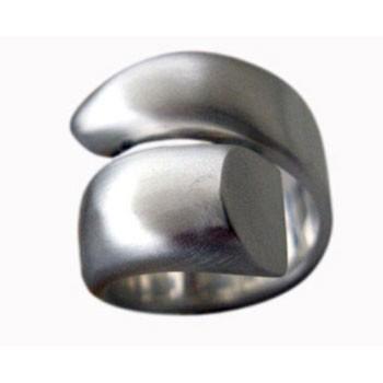 voluminöser Ring, Silber, offen