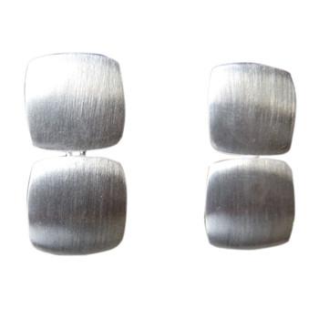 beweglicher Ohrstecker, Silber, feinmatt
