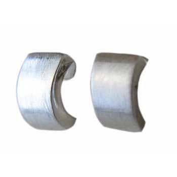 Halbcreole, Silber  6 x 12 mm