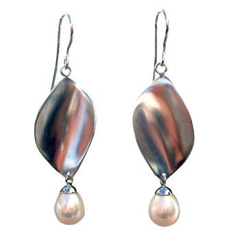 Ohrhänger, Silber mit Perle