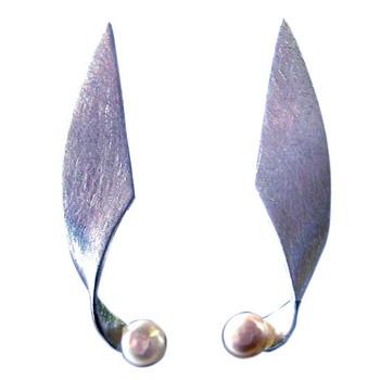 Silberohrstecker mit Perle, icematt