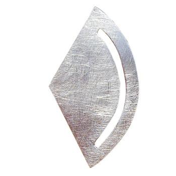 Anhänger mit klarem Design, Silber, eismatt