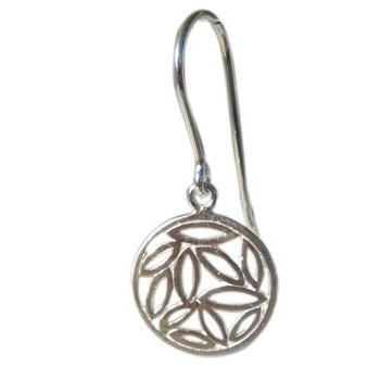Ohrring Silber  Durchmesser 14mm