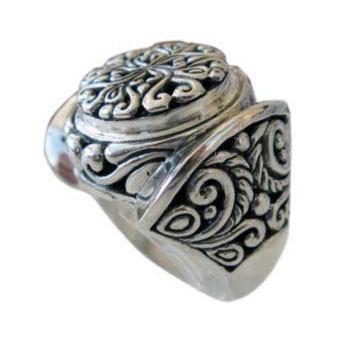 Ring Silber, Bali-Style