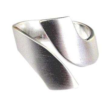 offener Silberring, feinmatt