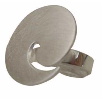 Ring, größenverstellbar, Durchmesser ca. 25mm siehe auch Ohrschmuck E 141 Hänger P 114 und Brosche BR 57