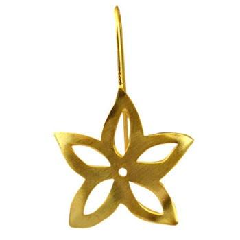 Ohrhänger, Silber vergoldet  22x22mm